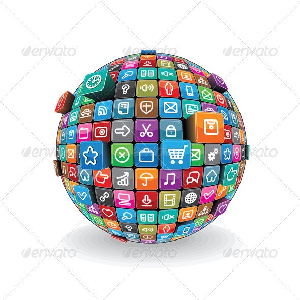 Apps Sphere Vector - Communications Technology