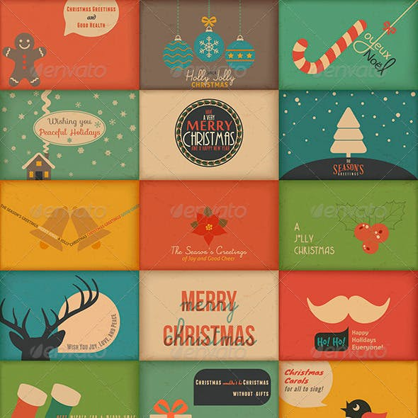 Collection of Retro Holidays Greeting Cards
