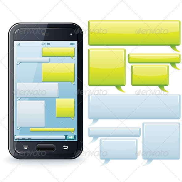 Phone Chatting Vector - Communications Technology