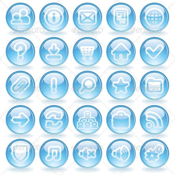 Shine Glass Icons - Web Icons