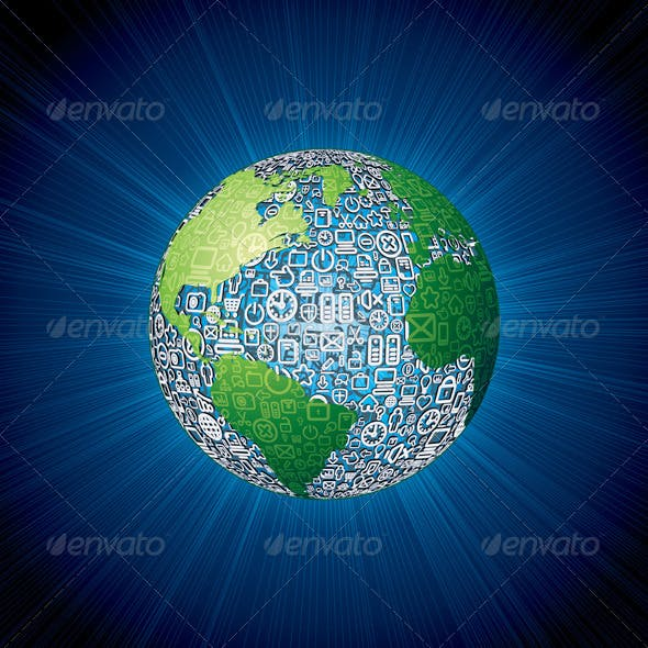 Social Media Icons Globe