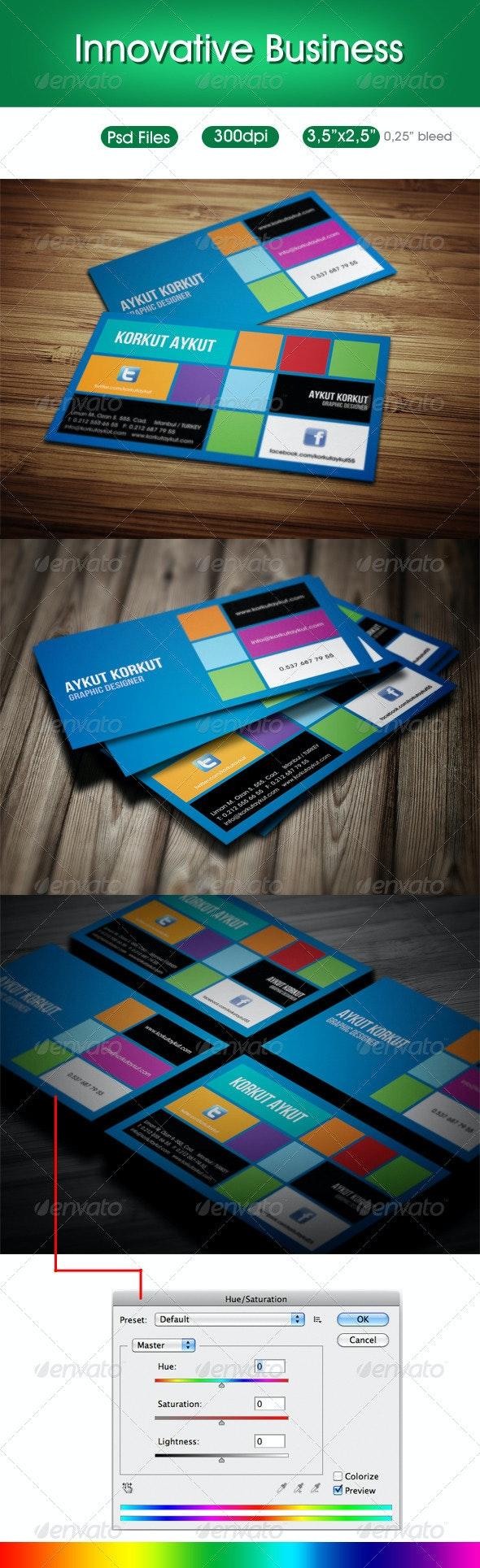 Innovative Designer Business Cards - Creative Business Cards