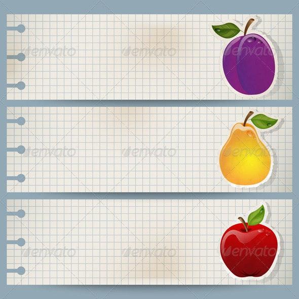 Fruit Banners - Web Elements Vectors