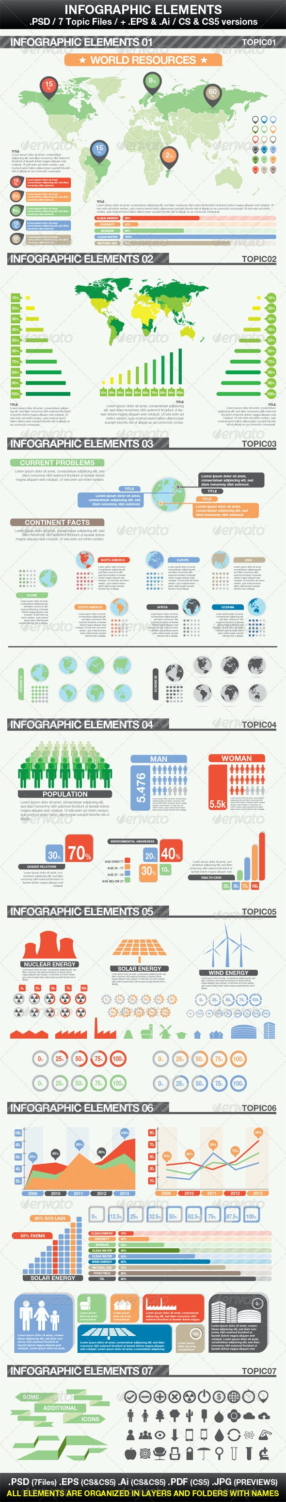 Simple Infographic Elements - Infographics