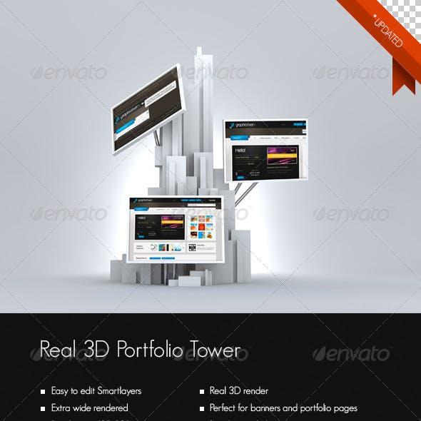 Real 3D Portfolio/Photo Tower