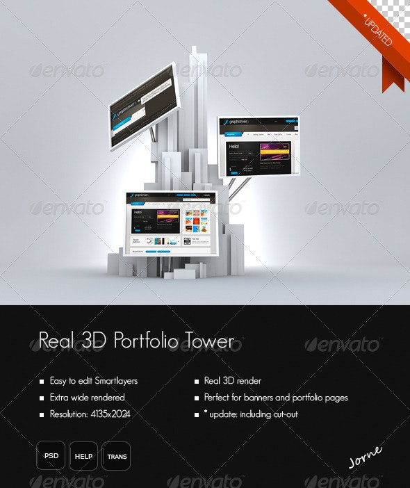 Real 3D Portfolio/Photo Tower - Website Displays