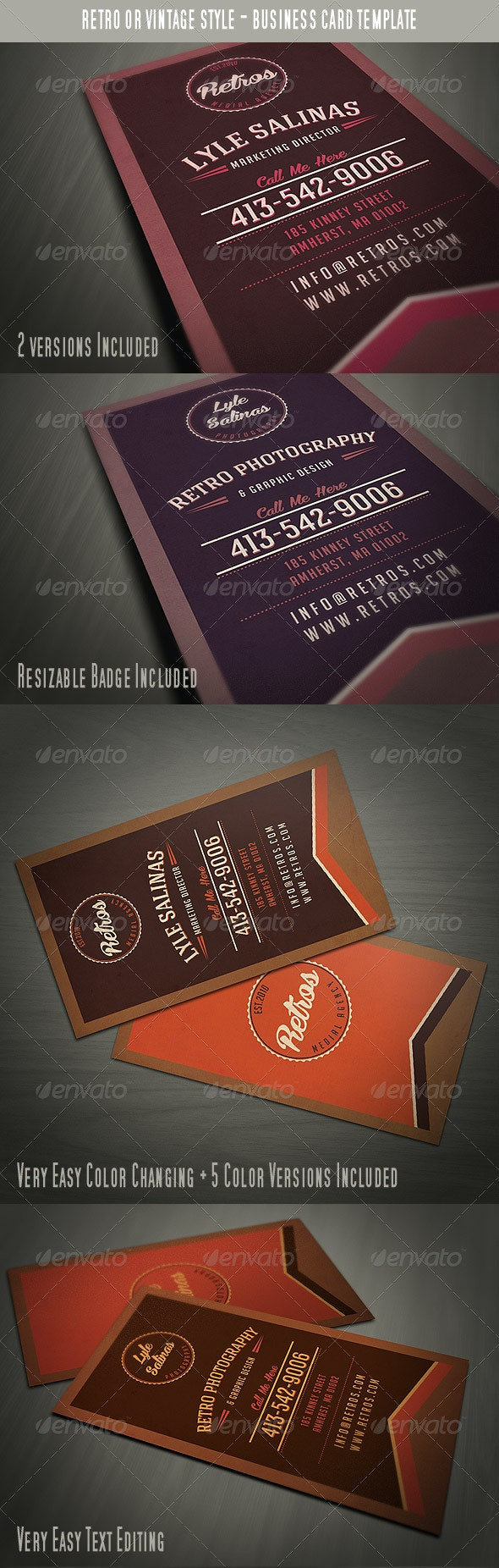 Vintage Style Business Card - Retro/Vintage Business Cards