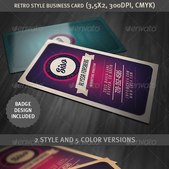 Retro Style Business Card
