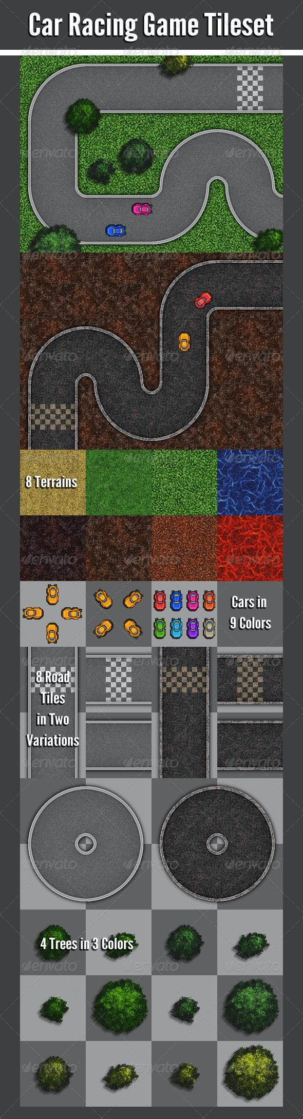 Car Racing Game Tileset