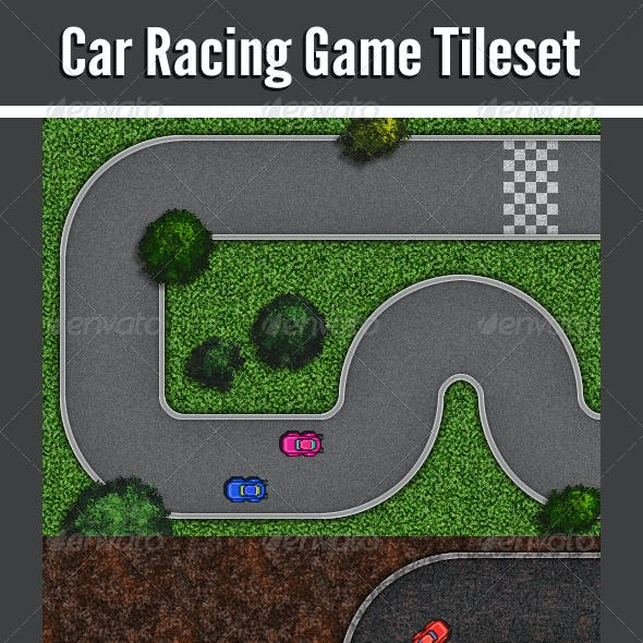 Car Racing Game Tileset