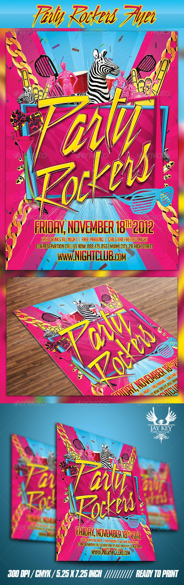 Party Rockers Flyer - Clubs & Parties Events