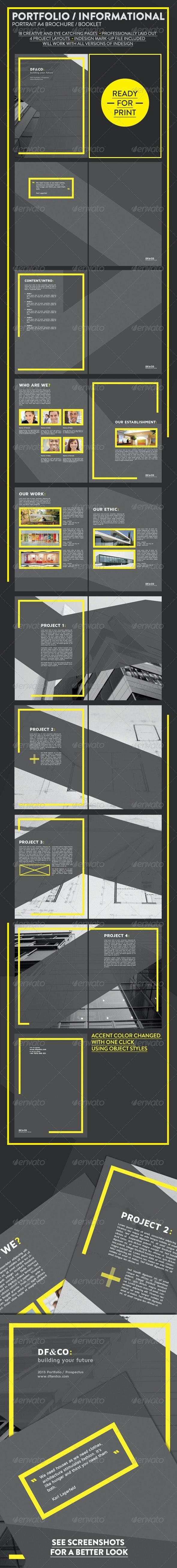 Modern Portfolio and Informational Brochure - Brochures Print Templates