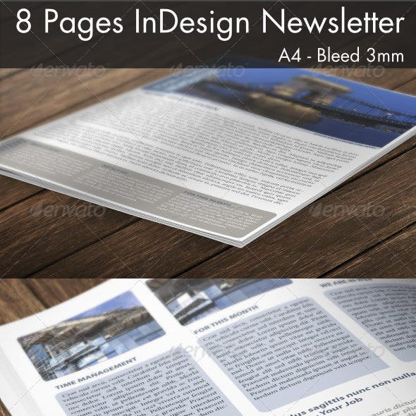 8 Page InDesign A4 Newsletter