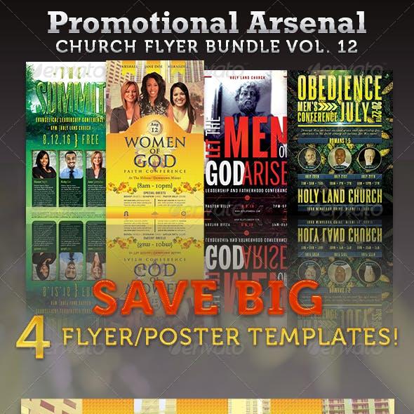 Promotional Arsenal Church Flyer Bundle 12