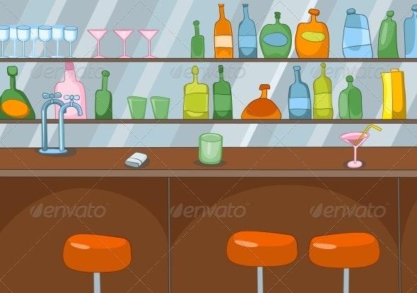 Bar Cartoon - Services Commercial / Shopping