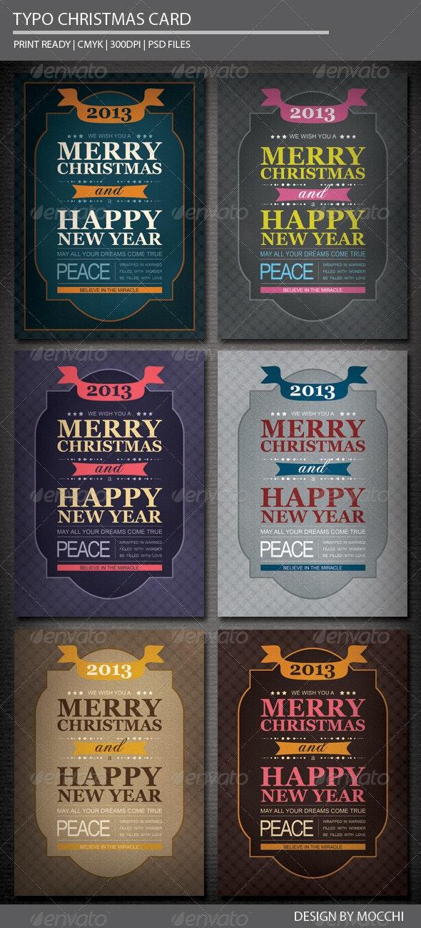 Typo Chirstmas Card - Holiday Greeting Cards