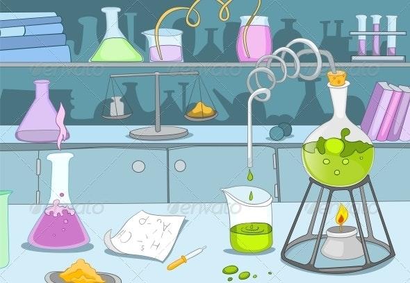 Chemical Laboratory - Health/Medicine Conceptual