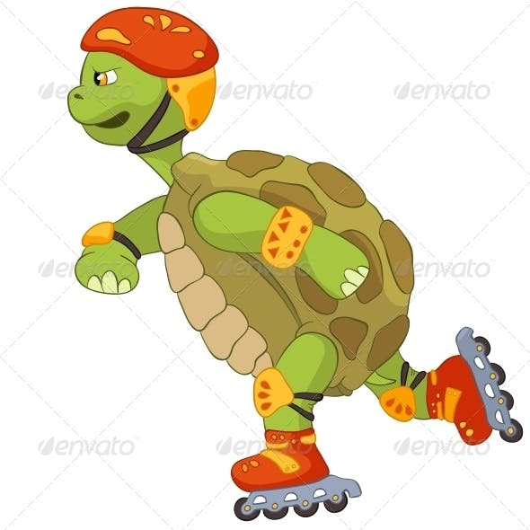 Funny Turtle. Roller.