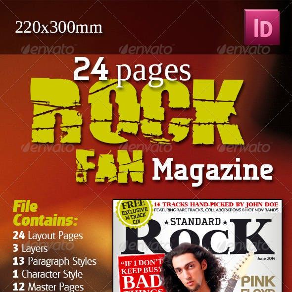 24 Pages Rock Fan Magazine