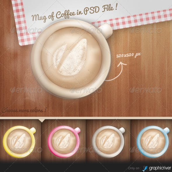Modern Mug of Coffee