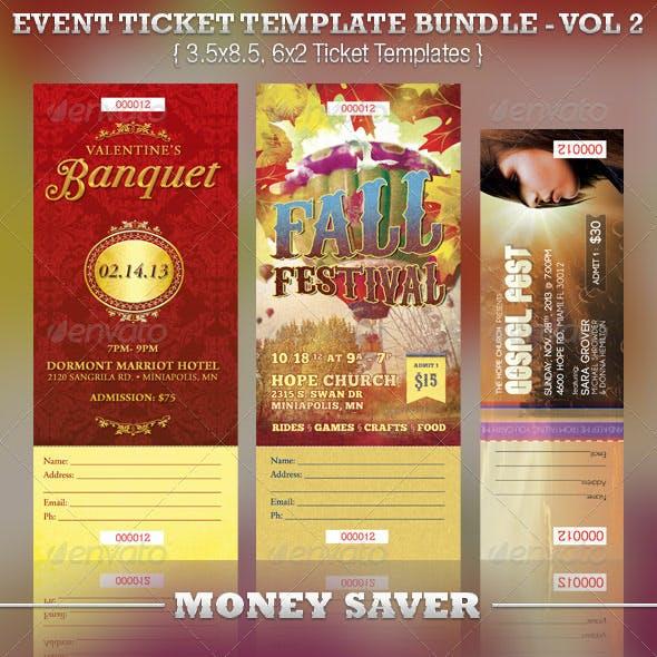 Event Ticket Template Bundle Volume 2