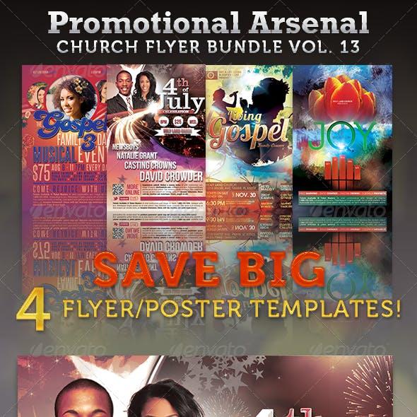 Promotional Arsenal Church Flyer Bundle 13