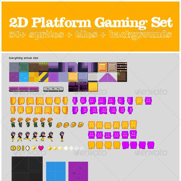 2D Platform Gaming Set