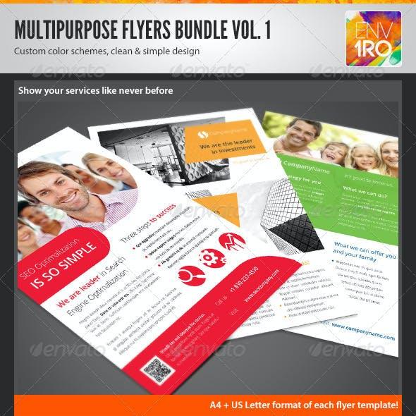 Multipurpose Corporate Flyers Bundle 3in1 vol. 1