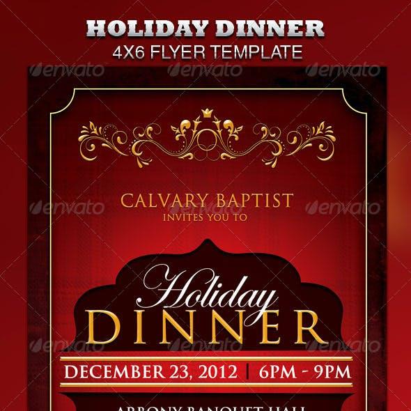 Holiday Dinner Church Flyer