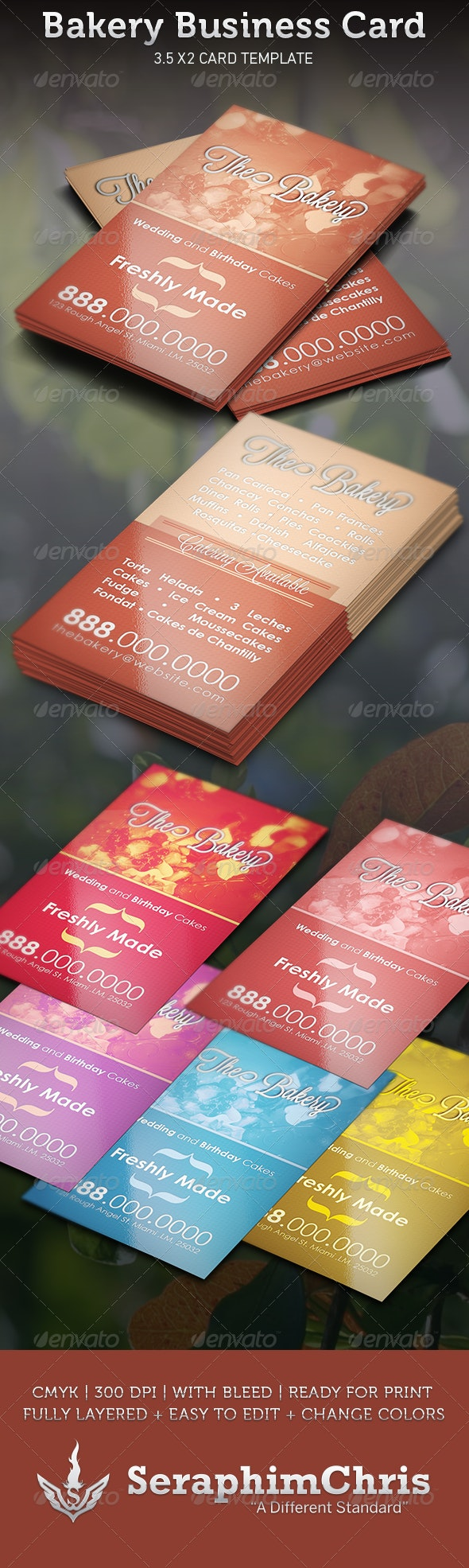 Bakery Business Card Template - Industry Specific Business Cards
