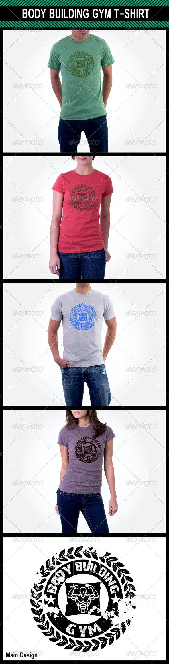 Body Building Gym T-Shirt - Sports & Teams T-Shirts