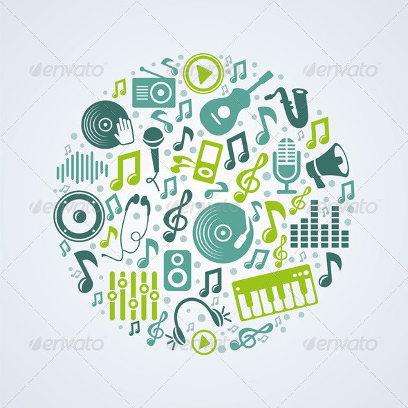 Vector Music Concept - Objects Vectors