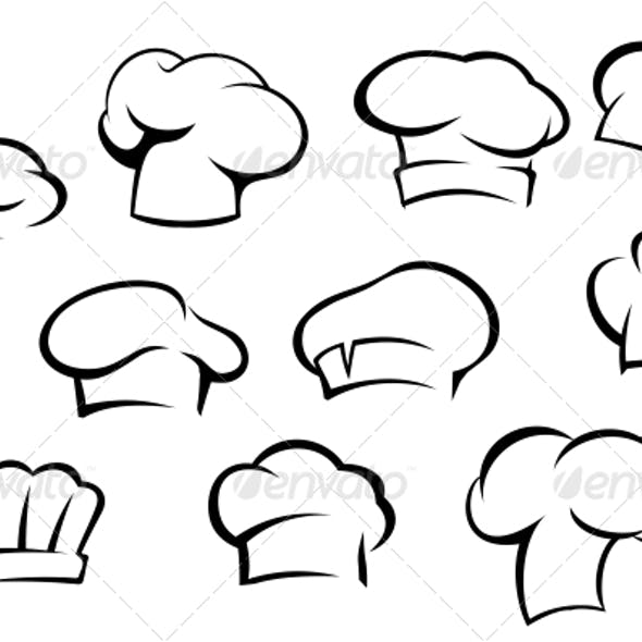 White Chef Hats and Caps