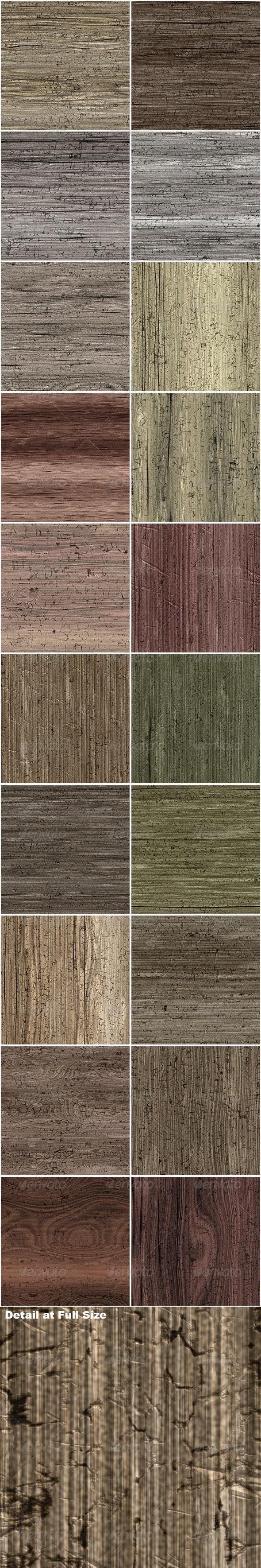 20 Seamless Worn Wood Textures - Wood Textures