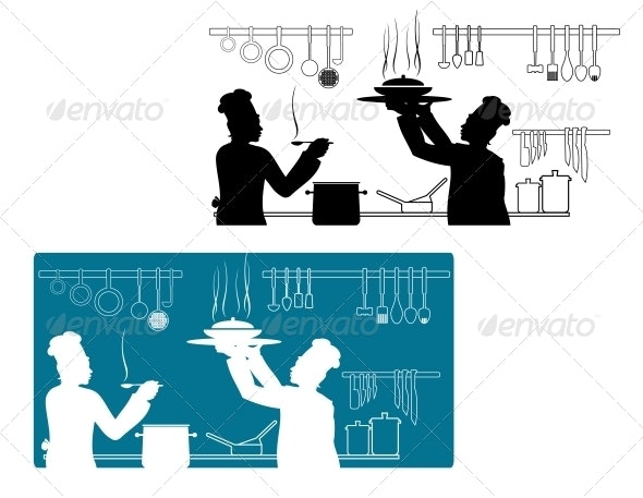 Chefs Cooking - Industries Business