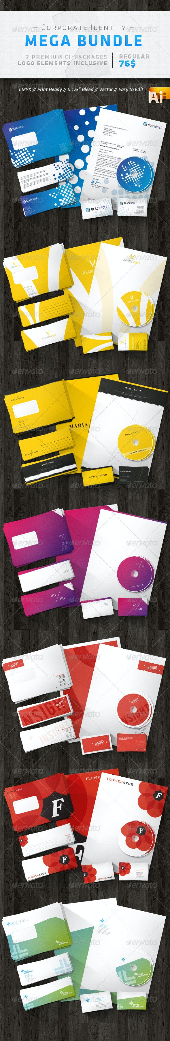 Corporate Identity Mega Bunde V2 - Stationery Print Templates