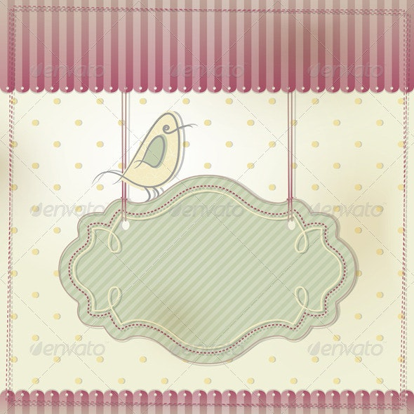 Card with Bird - Backgrounds Decorative