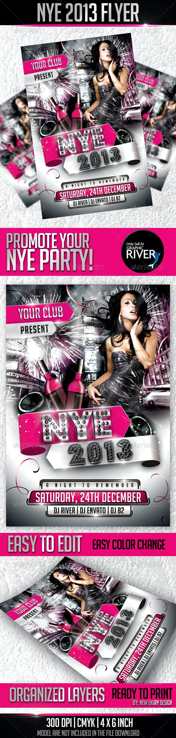 Nye 2013 Flyer Template - Events Flyers
