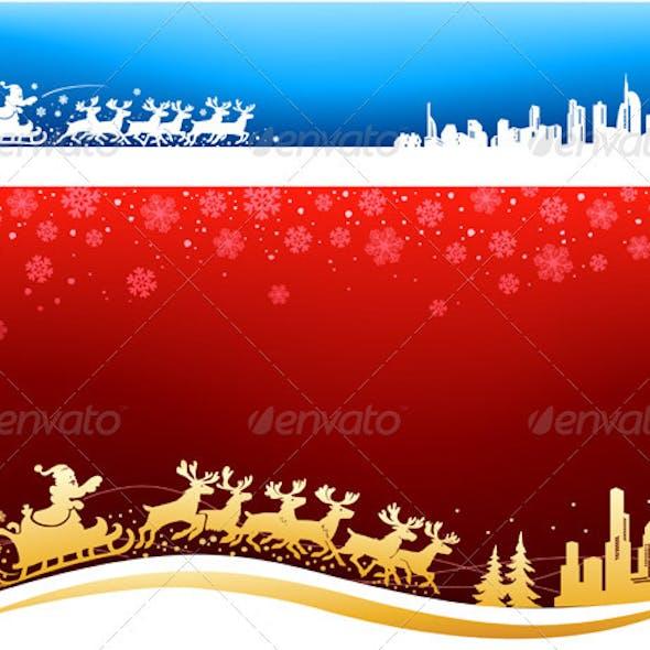 Santa Approaching Christmas Backgrounds