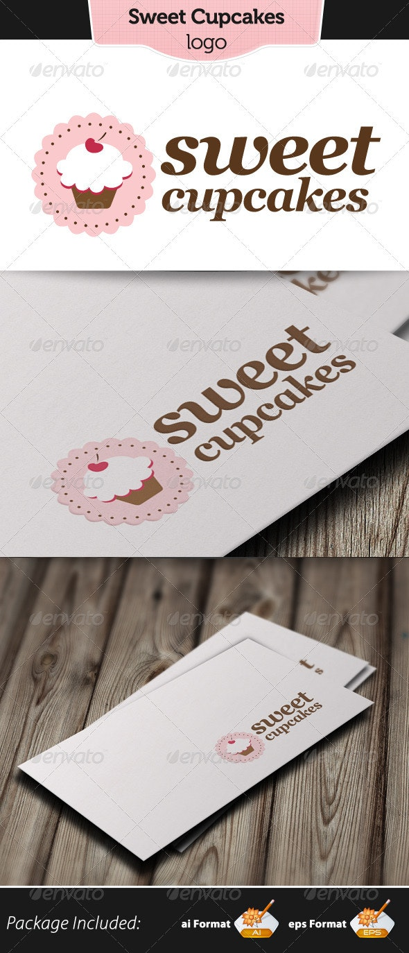 Sweet Cupcakes Logo - Food Logo Templates