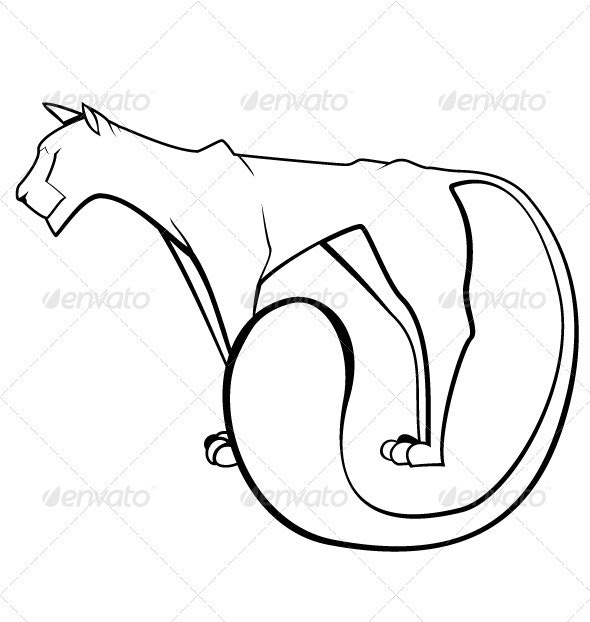 Contour Panther - Animals Characters