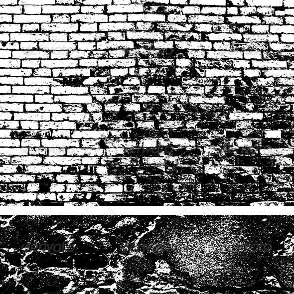 Brick Wall Background Set