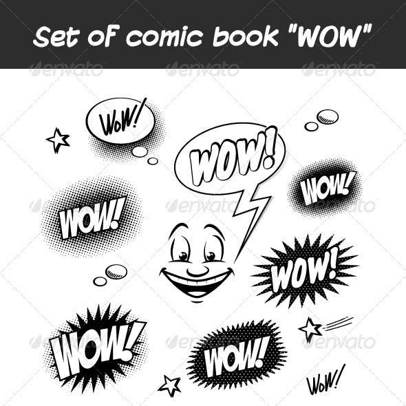 "Set of Comic Book ""WOW"""