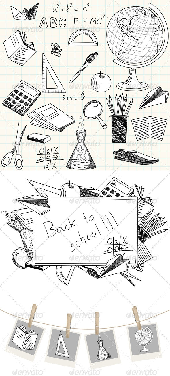 Sketch School Icon Set - Man-made Objects Objects
