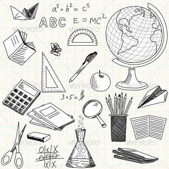 Sketch School Icon Set