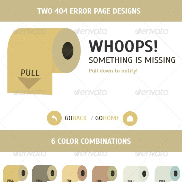 Roll Paper 404 Error Page