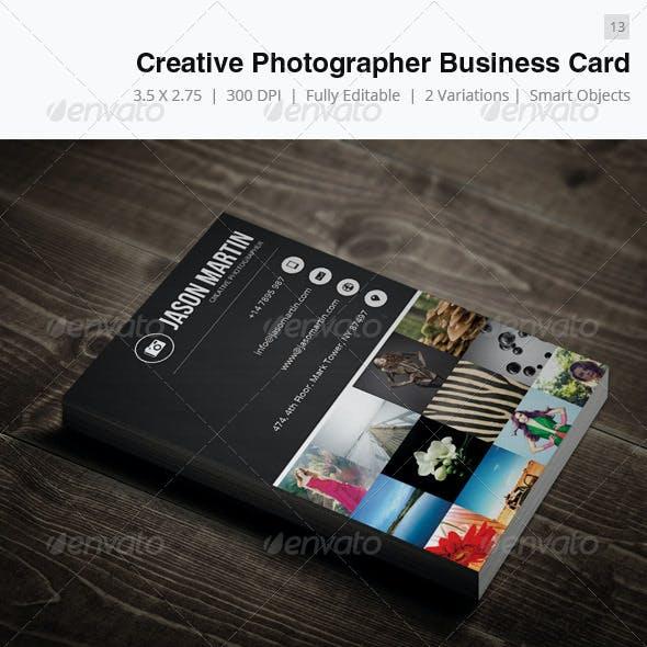 Creative Photographer Business Card - 13