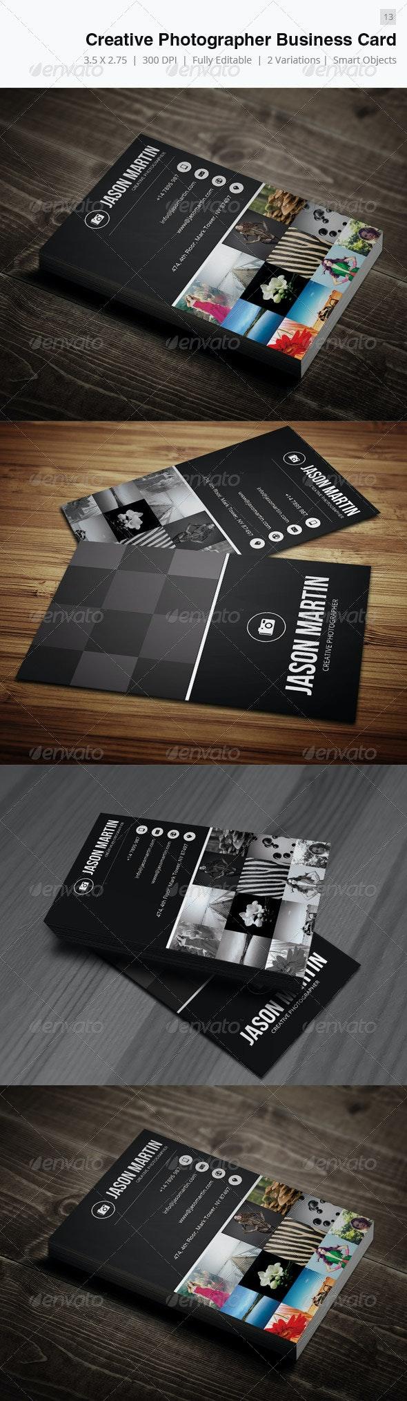Creative Photographer Business Card - 13 - Creative Business Cards