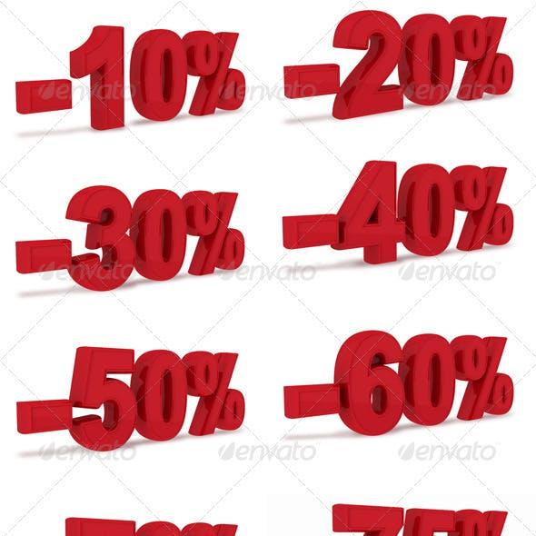 10% - 100% discount- 3D