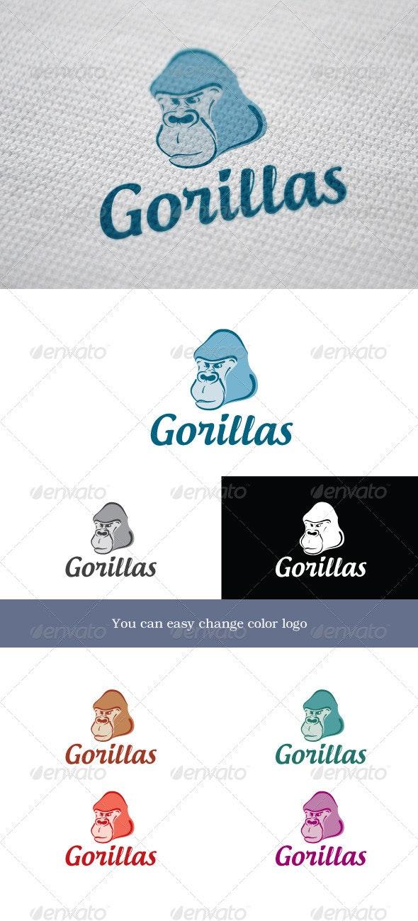 Gorillas - Animals Logo Templates